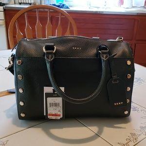 DKNY Brand New Black Leather Pocketbook